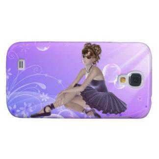 Galaxia S4, lila de Samsung de la bailarina de Funda Samsung S4