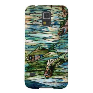 Galaxia S5 de Pescado-Tiffany-Samsung del vitral Funda Para Galaxy S5