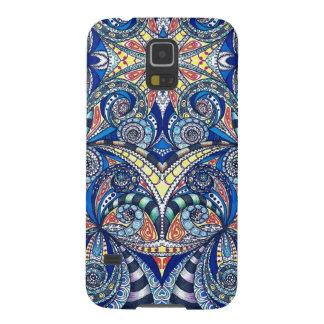 Galaxia S5 de Samsung que dibuja Zentangle floral Carcasa Para Galaxy S5