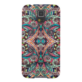 Galaxia S5 de Samsung que dibuja Zentangle floral Carcasas De Galaxy S5