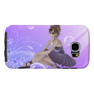 Galaxia S6, dura, lila, caso de Samsung de la Funda Samsung Galaxy S6