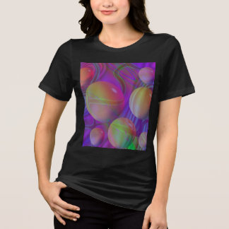 Galaxia violeta abstracta del fractal del añil del camiseta