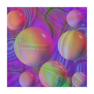 Galaxia violeta del añil del fractal abstracto int lona estirada galerías