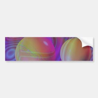 Galaxia violeta del añil del fractal abstracto int pegatina para auto