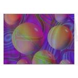 Galaxia violeta del añil del fractal abstracto int felicitacion