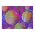 Galaxia violeta del añil del fractal abstracto invitación 12,7 x 17,8 cm