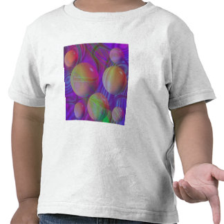 Galaxia violeta del añil del fractal abstracto camiseta