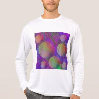 Galaxia violeta del añil del fractal abstracto camisetas