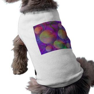 Galaxia violeta del añil del fractal abstracto playera sin mangas para perro