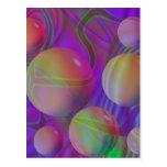 Galaxia violeta del añil del fractal abstracto postal