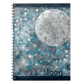 Galaxia y estrellas de la Luna Llena Cuadernos