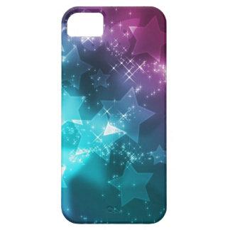 galaxia y estrellas funda para iPhone 5 barely there