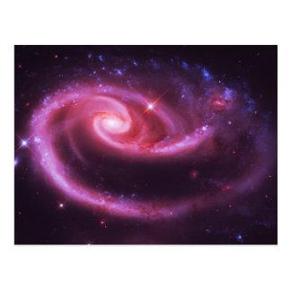 Galaxias color de rosa rosadas tarjetas postales