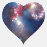 Galaxias de las antenas - supernovas y calabozos pegatina en forma de corazón