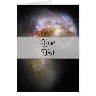 Galaxias de las antenas tarjeta de felicitación