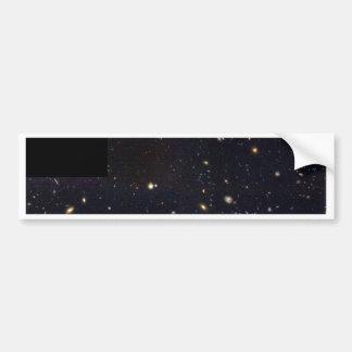 Galaxias del espiral elípticas y el chocar en el pegatina de parachoque