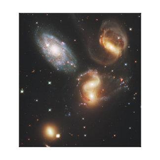 Galaxias del quinteto de Stephan (telescopio de Hu Impresión En Lienzo Estirada