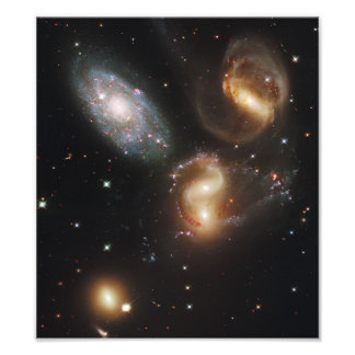 Galaxias del quinteto de Stephan (telescopio de Hu Fotografias