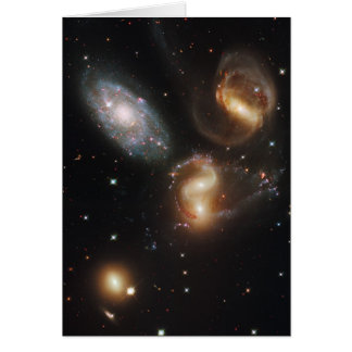 Galaxias del quinteto de Stephan (telescopio de Hu Felicitacion