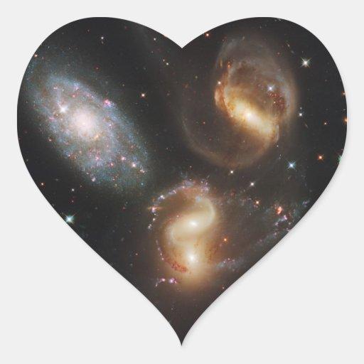 Galaxias del quinteto de Stephan (telescopio de Pegatinas Corazon