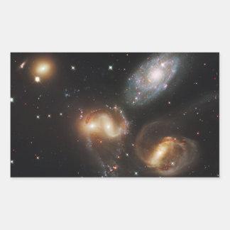 Galaxias del quinteto de Stephan (telescopio de Pegatina Rectangular