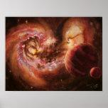 Galaxias del sistema planetario y de las antenas póster