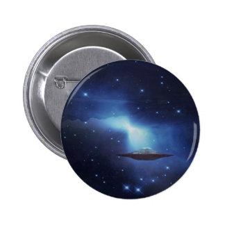 Galaxias del UFO Pin Redondo De 2 Pulgadas