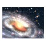 Galaxias en la postal del cielo