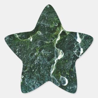 Galaxias en piedra pegatina en forma de estrella