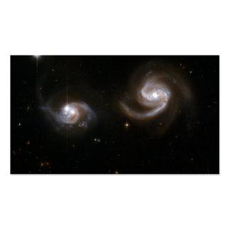 Galaxias espirales tarjeta de visita