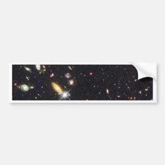 Galaxias innumerables de nuevo al principio del ti pegatina para auto