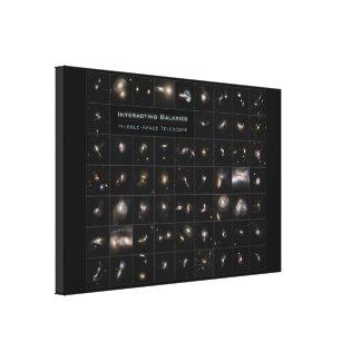 Galaxias que obran recíprocamente (59) impresión en tela