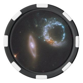 Galaxias que obran recíprocamente Arp 147 Juego De Fichas De Póquer