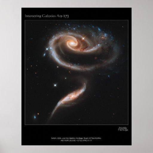 Galaxias que obran recíprocamente ARP-273 Impresiones