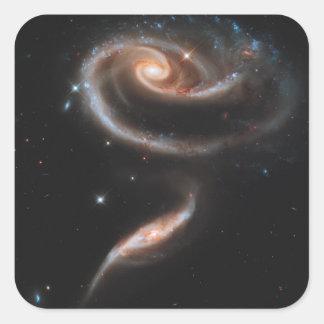 Galaxias que obran recíprocamente ARP-273 Pegatina Cuadrada