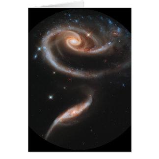 Galaxias que obran recíprocamente ARP-273 Tarjeta De Felicitación
