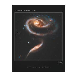Galaxias que obran recíprocamente Arp 273 UGC 1810 Impresión En Lienzo Estirada