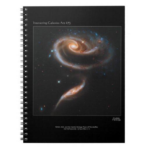 Galaxias que obran recíprocamente Arp 273 UGC 1810 Libro De Apuntes Con Espiral