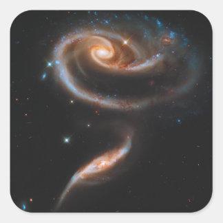 Galaxias que obran recíprocamente Arp 273 UGC 1810 Pegatina Cuadrada