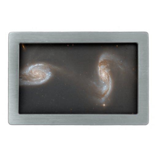 Galaxias que obran recíprocamente hebilla de cinturón rectangular