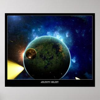 Galaxies Ablaze Poster