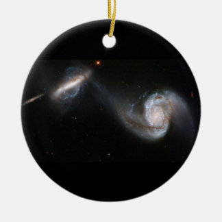 Galaxies Dance Double-Sided Ceramic Round Christmas Ornament