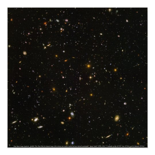 Galaxies, Deep Space image of galaxies Poster
