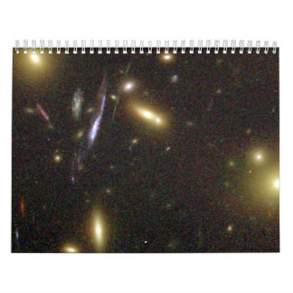 Galaxies Magnified by Galaxy Cluster Wall Calendar