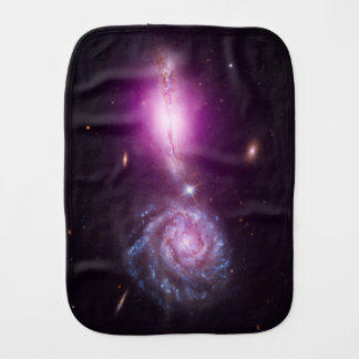 Galaxies On Parade - See Both Sides Baby Burp Cloth