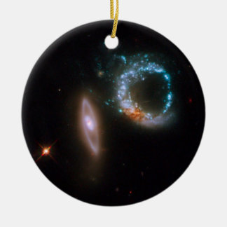 Galaxies Perfect Ten Double-Sided Ceramic Round Christmas Ornament
