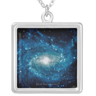 Galaxy 3 silver plated necklace