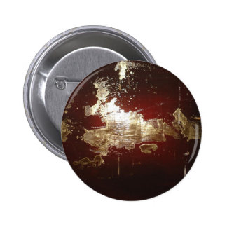Galaxy - Abstract Expressionist Red Brown Gold Button