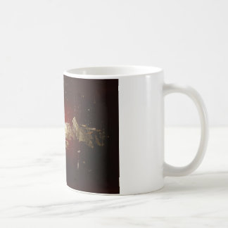 Galaxy - Abstract Expressionist Red Brown Gold Coffee Mug
