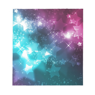 galaxy and stars memo note pads